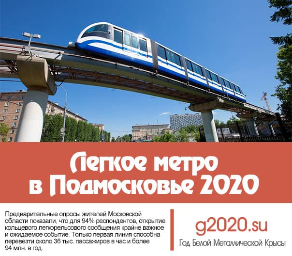 Легкое метро в Подмосковье 2020
