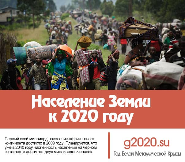 Население Земли к 2020 году
