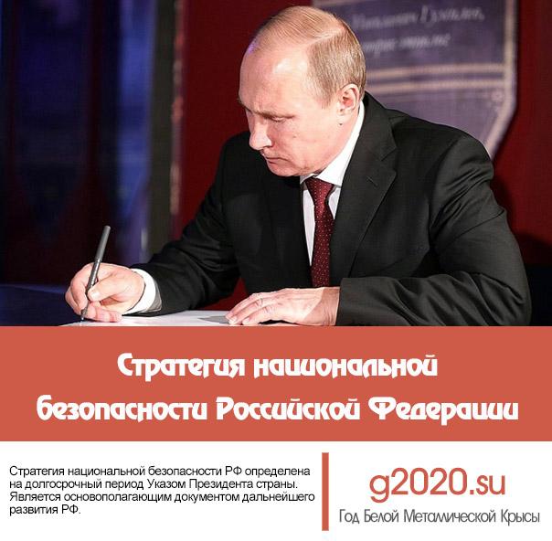 Стратегия национальной безопасности Российской Федерации до 2020 года
