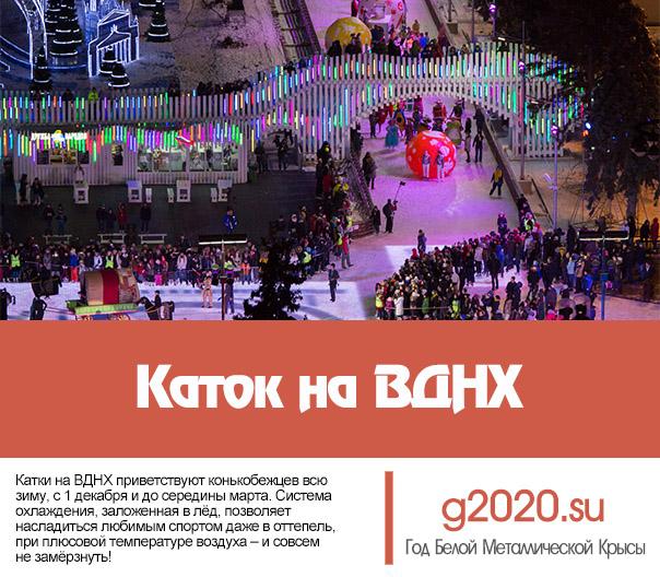 Каток на ВДНХ 2019-2020