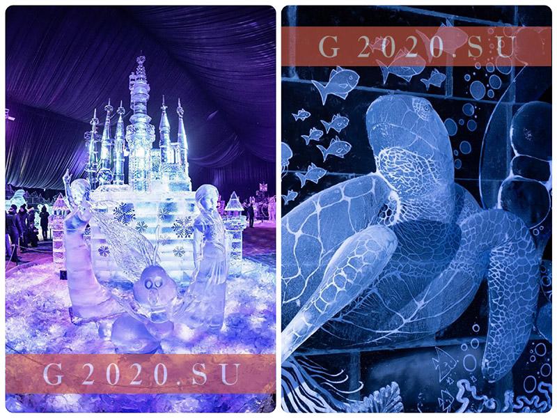 Ледяные скульптуры в СПб 2021-2022