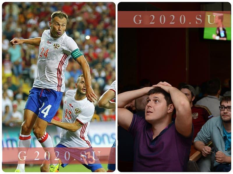 Матчи сборной России по футболу 2020