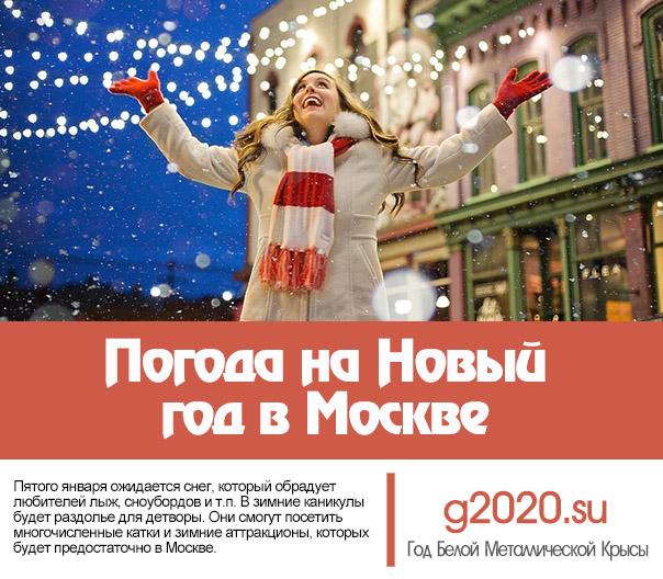 Погода на Новый год в Москве 2021
