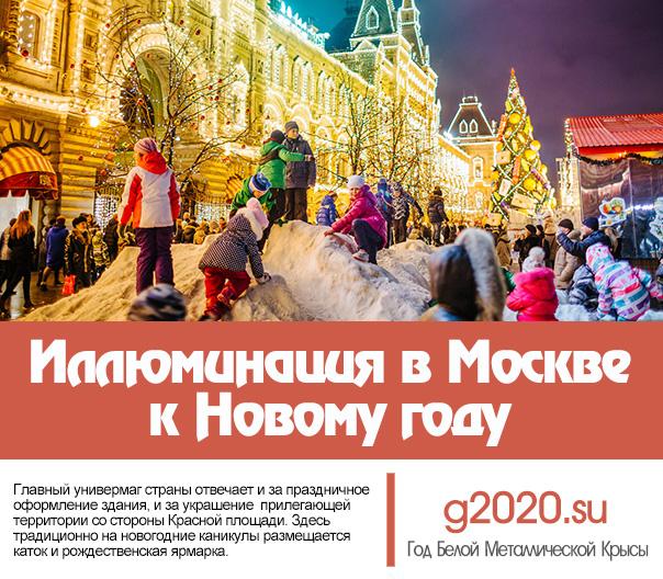 Иллюминация в Москве к Новому году 2021