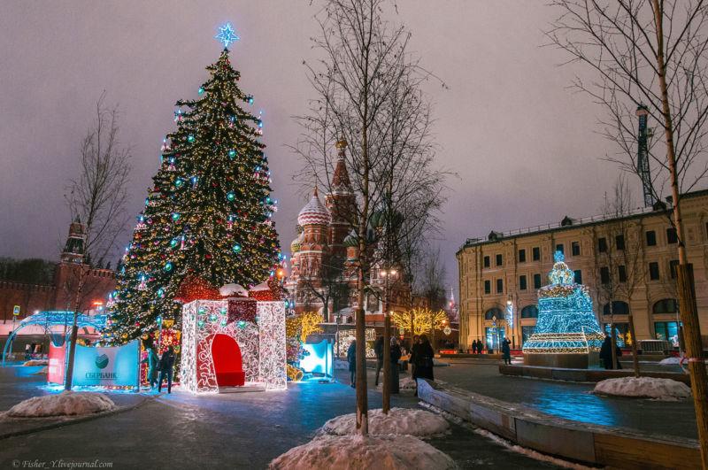 Иллюминация в Москве к Новому году 2020