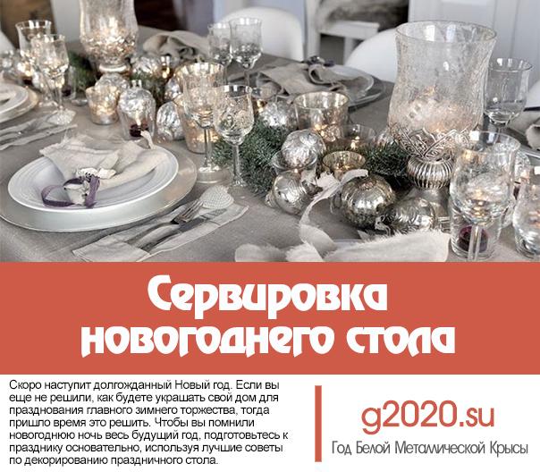 Сервировка новогоднего стола 2022