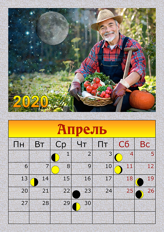 Лунный посевной календарь на 2020 года садовода и огородника на апрель