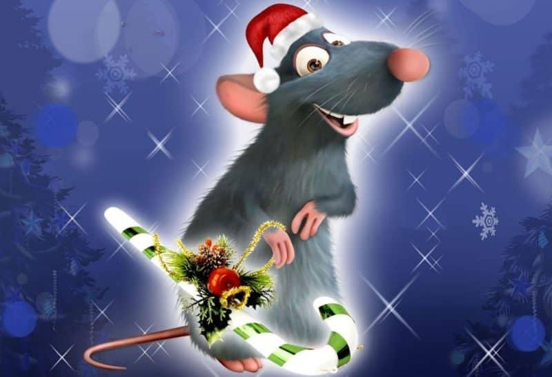 Картинки с Новым годом Крысы 2020 для рабочего стола