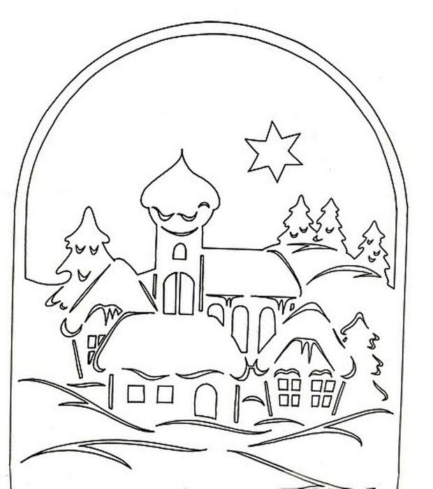 Новогодние картинки на окна из бумаги 2020