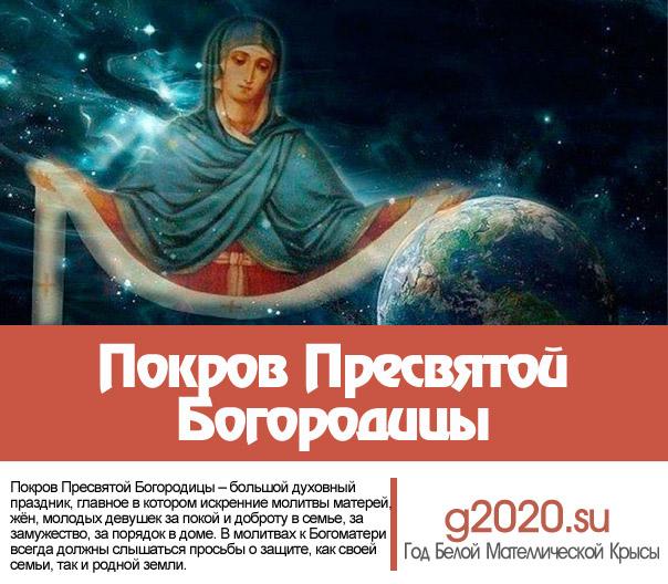 Покров Пресвятой Богородицы 2022