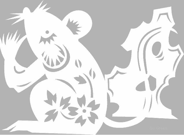 Трафареты на окна к Новому году 2020 Крысы