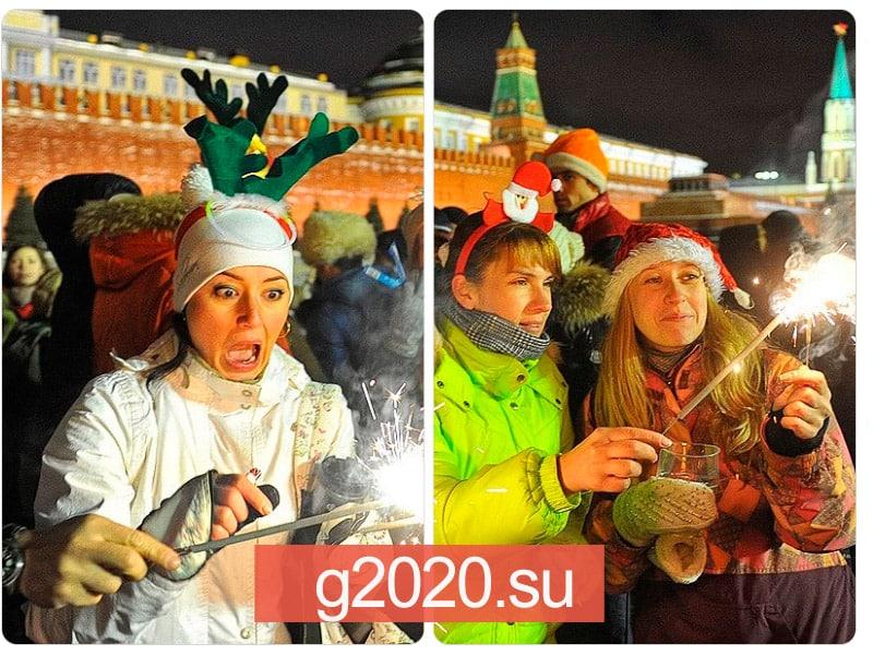 Красная площадь на Новый год 2022